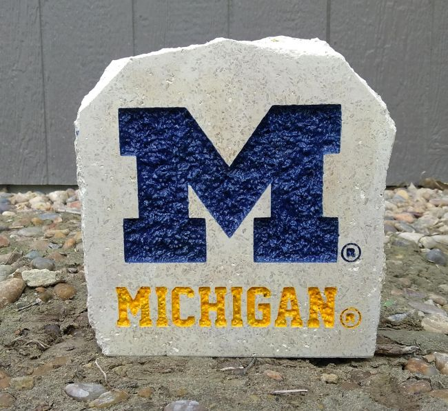 7in university of michigan desk stone