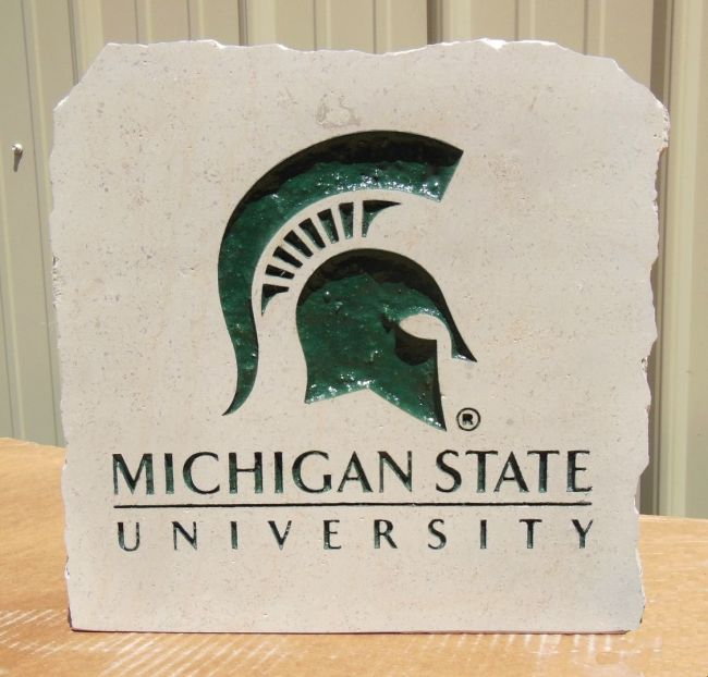 11in michigan state university stone