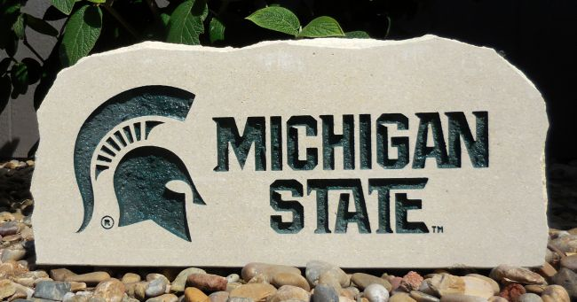 michigan state spartans stones
