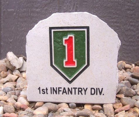 army 1st infantry div desk stone