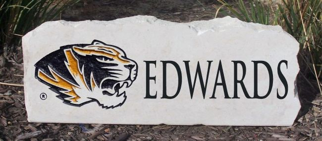 custom mizzou tigers yard stone