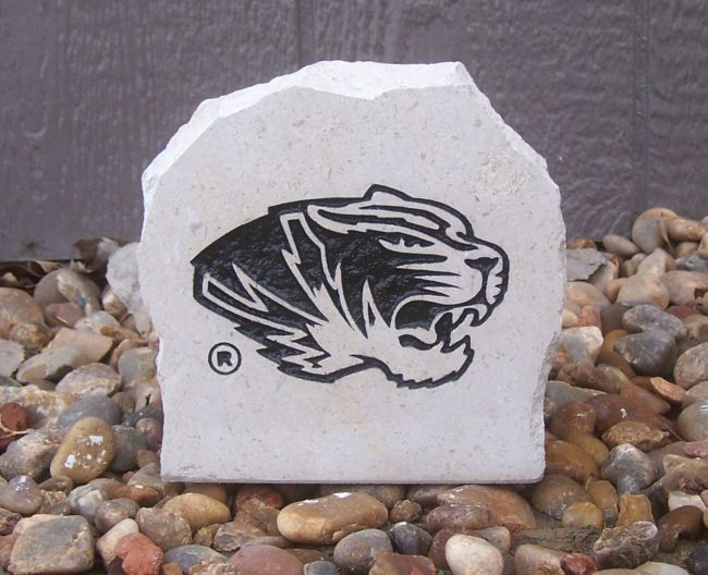 tigers black desk stone
