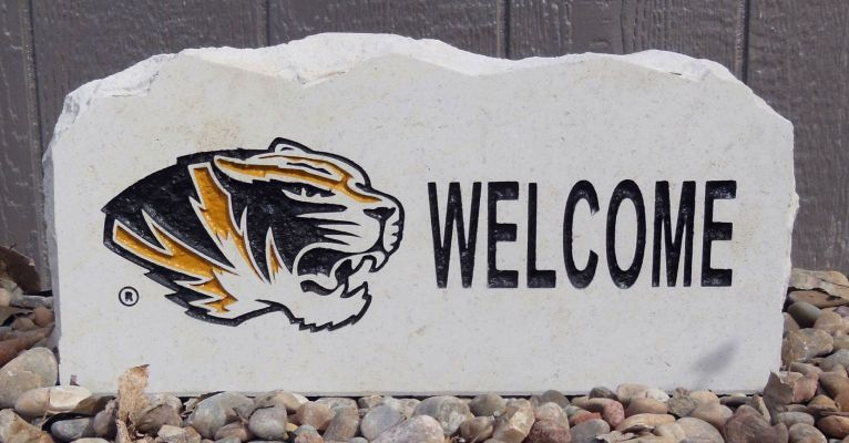 missouri tigers welcome porch stone
