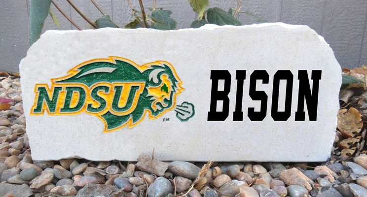 ndsu 16in bison porch stone