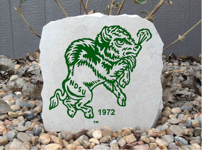ndsu 1972 bison porch stone