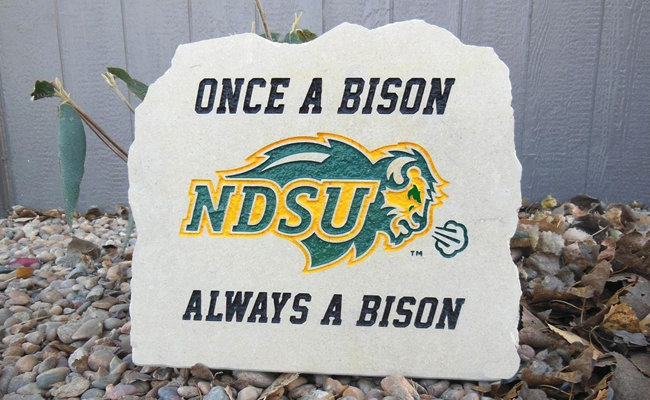 once a bison porch stone