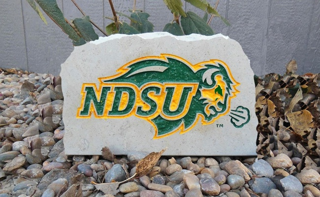 ndsu bison porch stone