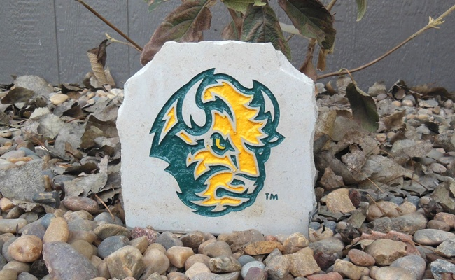 ndsu bison head desk stone