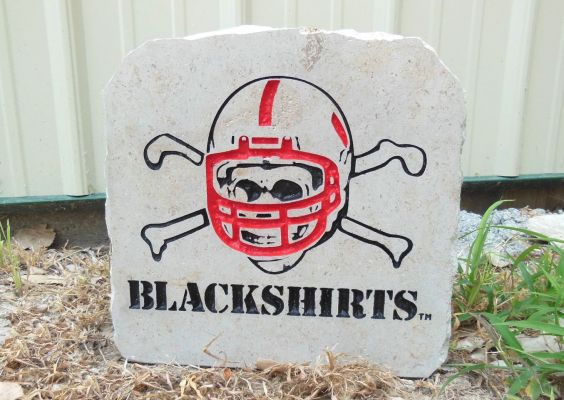 neb blackshirts porch stone
