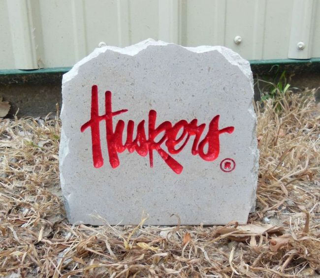 huskers desk stone small