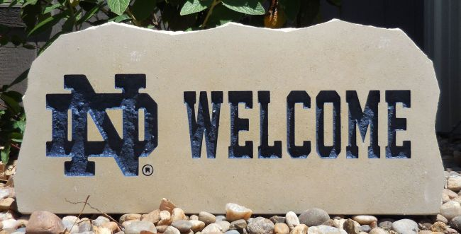 notre dame #2 welcome stone