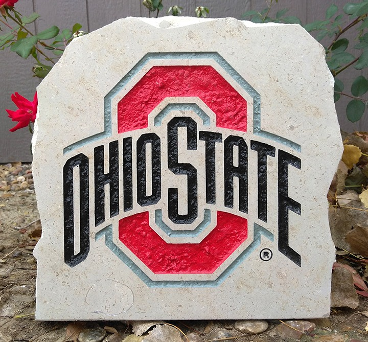 11in ohio state university porch stone