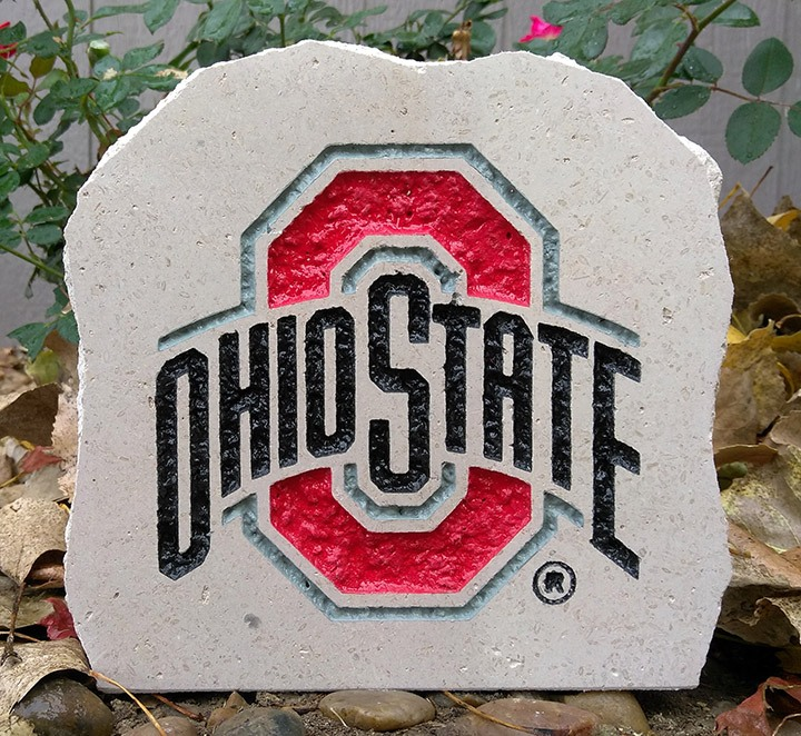 7in ohio state university full logo desk stone