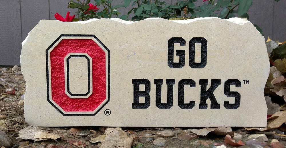 ohio state go bucks porch stone