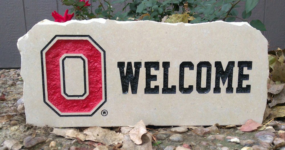ohio state welcome porch stone
