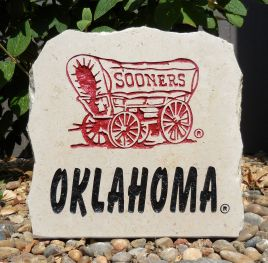 11in oklahoma sooners stone