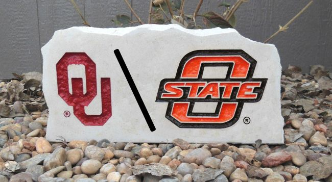ou o state divided house porch stone