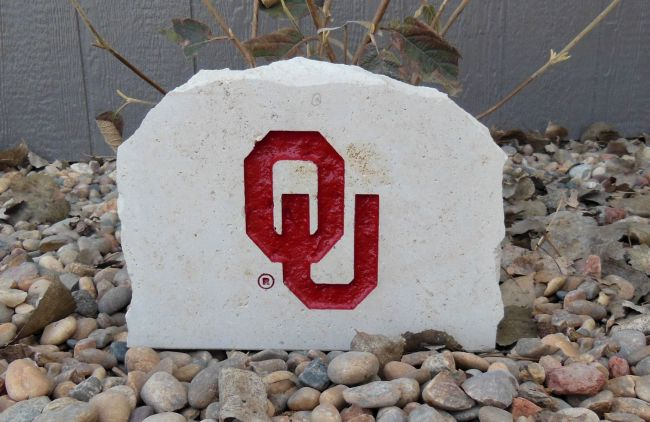 9in ou engraved porch stone