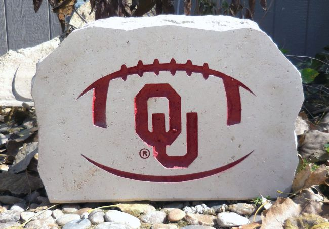 9in ou football porch stone