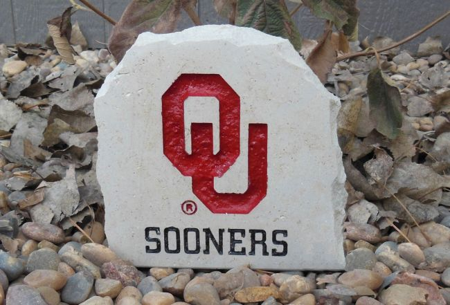 7in ou sooners desk stone