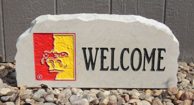 pittsburg state welcome porch stone