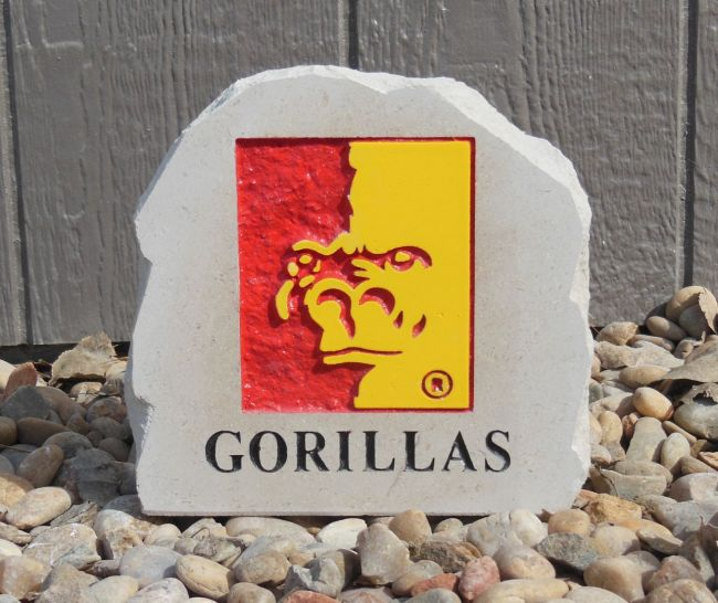 small gorillas desk stone