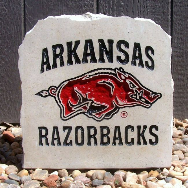 arkansas razorbacks porch stone