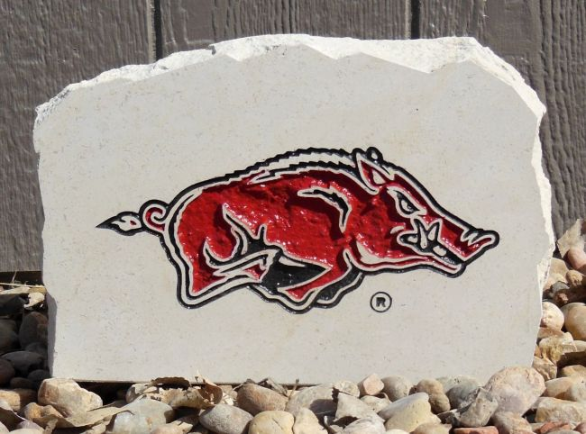 razorbacks small porch stone