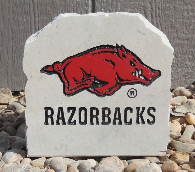 7in razorback with text desk stone