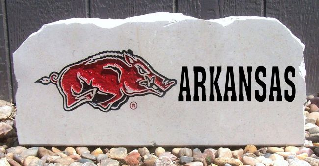 17in razorback arkansas porch stone