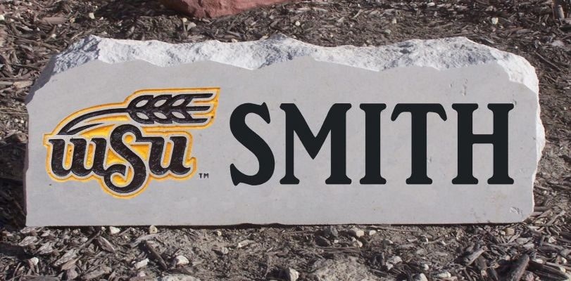 custom wsu wheat yard stone