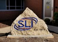 natural shape engraved limestone sign