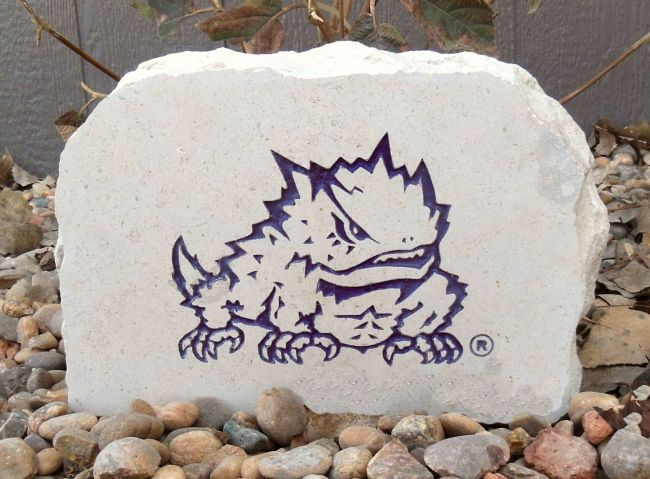 horned frogs porch stone