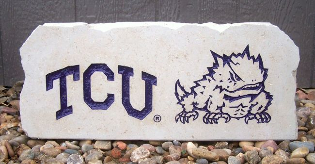 tcu horned frogs stones