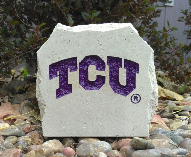 tcu small desk stone