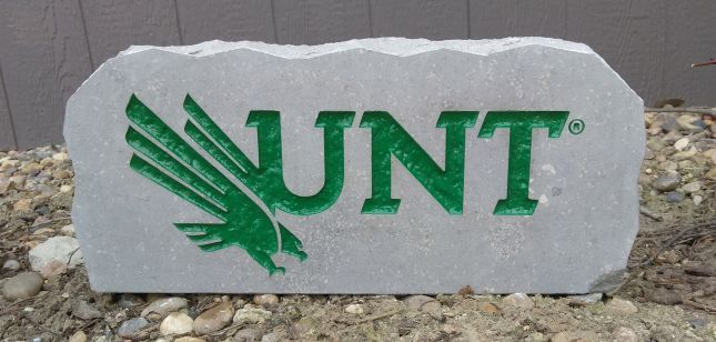 17in university of north texas unt porch sign