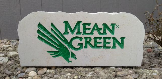 17in university of north texas mean green porch sign