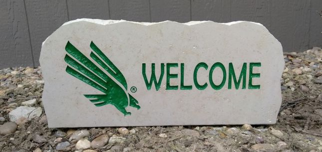 17in university of north texas welcome porch sign