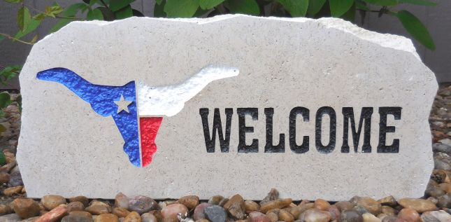 longhorn american welcome porch stone