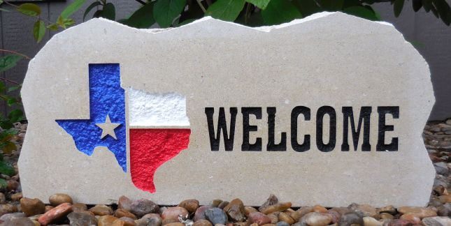 state of texas american welcome porch stone