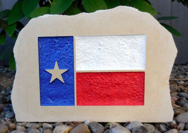 state of texas flag porch stone