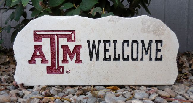 a&m welcome porch stone