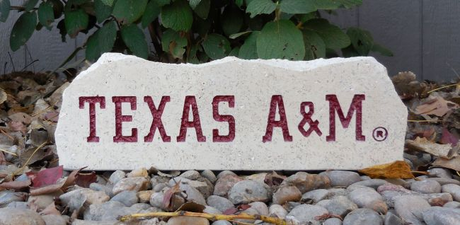 a&m long desk stone