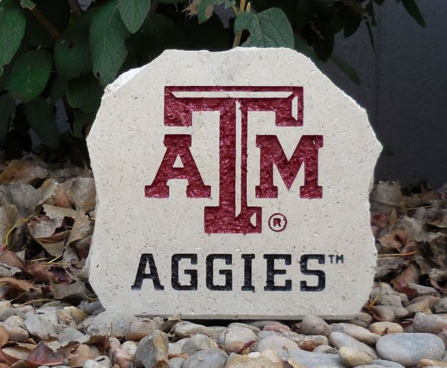 a&m aggies desk stone