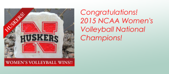 Huskers win Congratulations! 2015 NCAA Women's Volleyball National Championship!